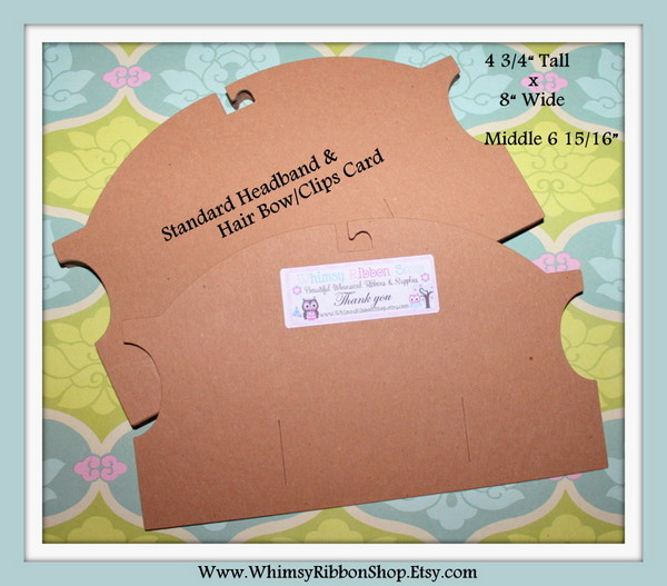 Large Standard Semi Super Thick DISPLAY CARDS w/hanging hook