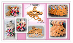 """DOLL HANGERS for 18"""" Doll clothes hair bows clippes display cards pack"""