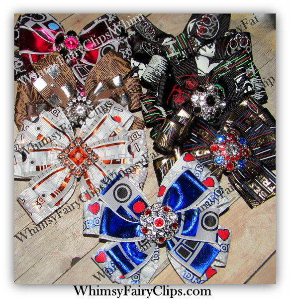 """4 - 5 """" inch Star Wars INSPIRED Double Stack HAIR BOWS"""