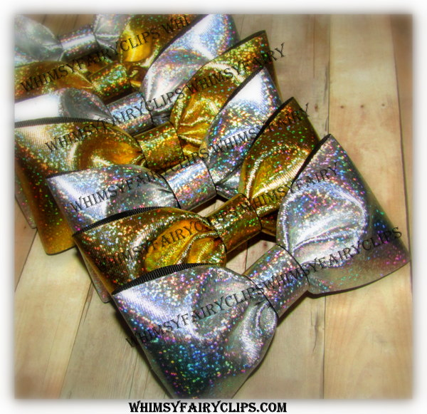 """4 - 8 """" TUXEDO Bows SILVER or GOLD w/ 3"""" Ribbon for boy or girl"""
