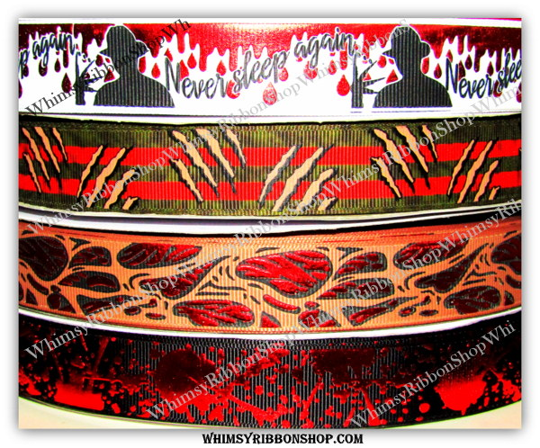 7/8 Nightmare FREDDY on Grosgrain Ribbon USDR