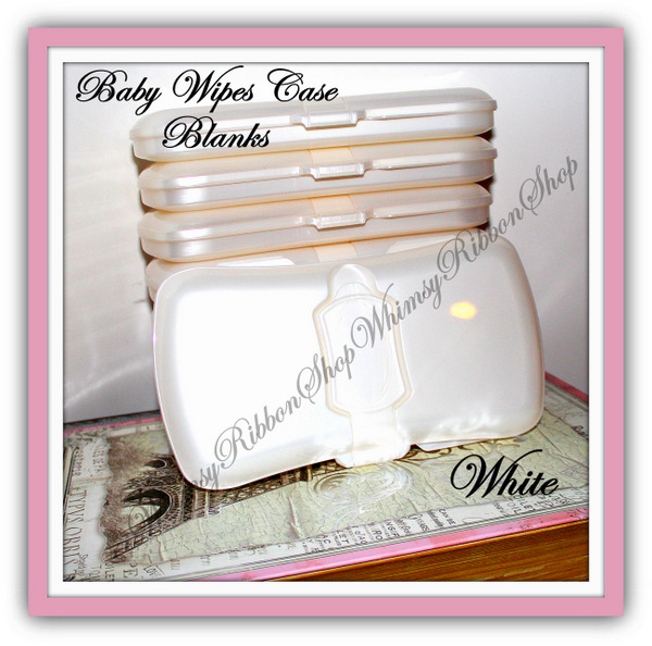 1 -  Pretty Pearl Diaper Baby Travel WIPES Case BLANK