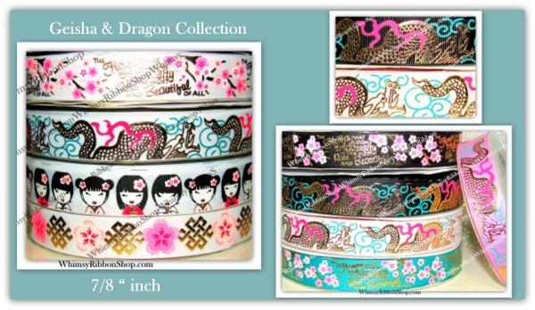 7/8 GEISHA Girl DRAGONS Collection