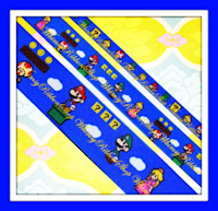 3/8, 7/8 OR 1.5 Mario Bros Ribbon inspired