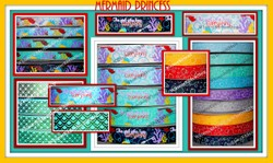 3/8 & 7/8 MERMAID Princess Inspired collection on Grosgrain Ribbon
